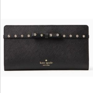 Kate Spade Jeweled Leather Wallet